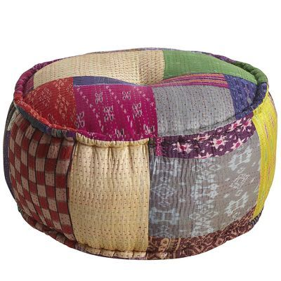 I Could Definitely Make This Ikat Sari Pouf From Pier 40 Products Adorable Pier One Pouf