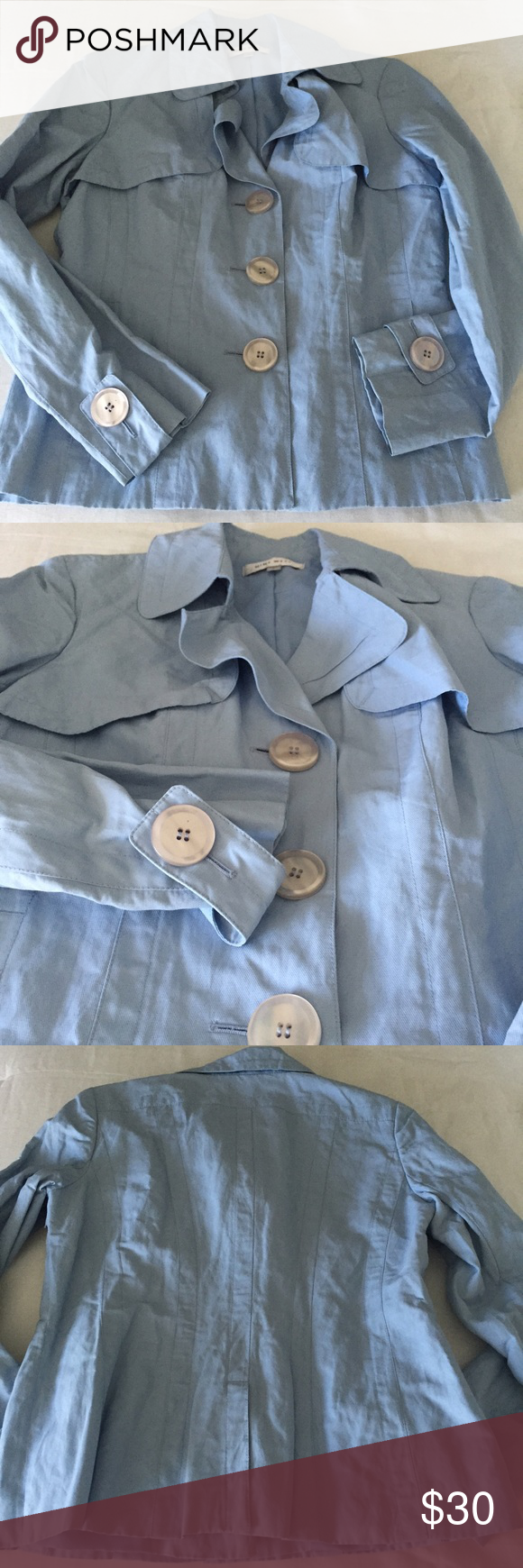 🆕 Nine West NWOT pea coat size small NWOT Nine West periwinkle blue lightweight pea coat with large buttons in size small 🆕 no trades 🆕 offers encouraged!💕 🆕 bundles 2+ items 10% off  🔹bundle price recently changed to lower prices/ acceptable offers for my Poshmark friends interested in single items only 🔹 Nine West Jackets & Coats Pea Coats