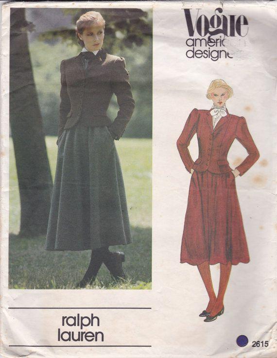 Vogue American Designer 2615 Vintage Pattern - Ralph Lauren- Semi ...