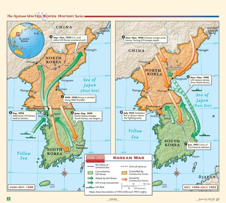 Cold War Map Of Asia.Korean War 1950 1953 The World Pinterest Korean War Korean