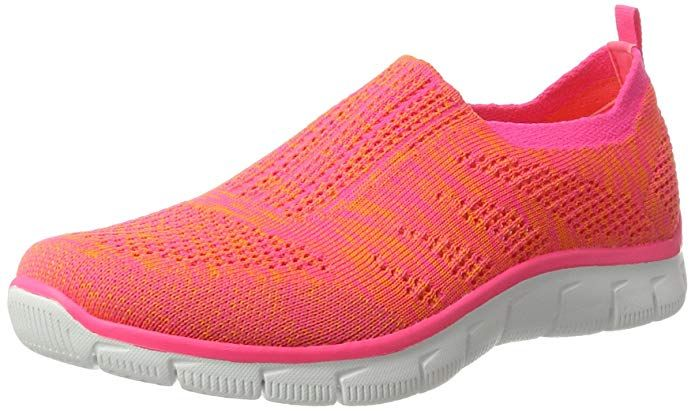1c90d78dcab9 Skechers Empire Inside Look Womens Slip On Sneakers Orange Hot Pink ...