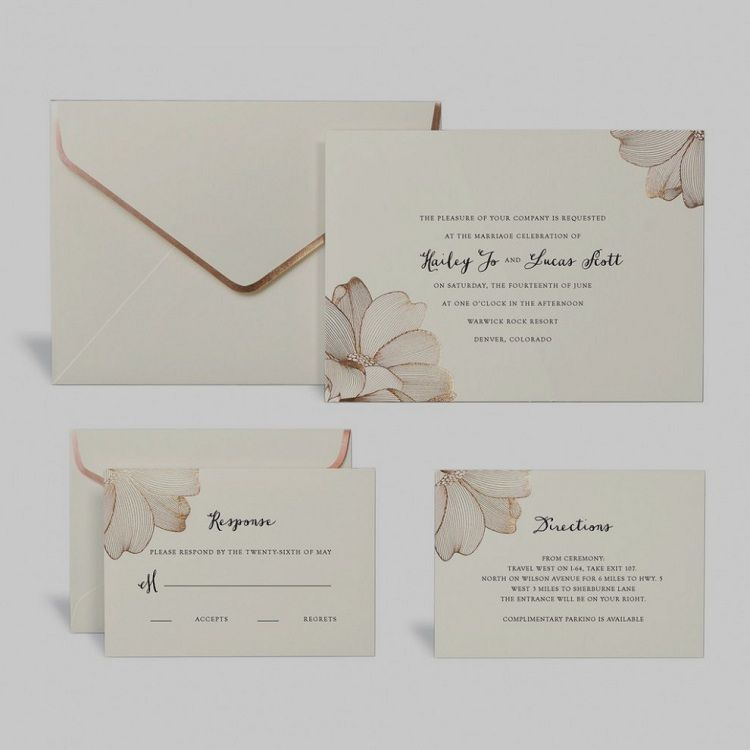 Rose Gold Floral Wedding Invitation Kit By Celebrate Ittm Wedding Invitation Kits Diy Wedding Invitation Kits Rose Gold Wedding Invitations