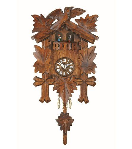 Black Forest Clock With Cuckoo Turning Dancers Incl Battery Isdd Cuckoo Clocks Http Www Amazon Com Dp B003crrtr0 Ref Cm Sw With Images Forest Clock Clock