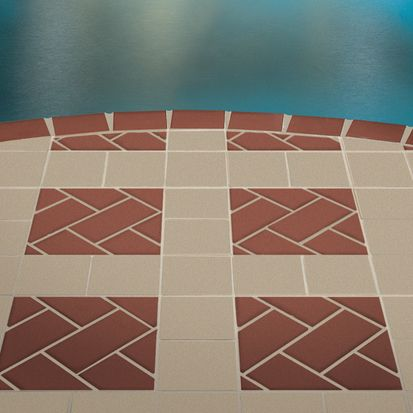Check Out This Quarry Tile In Canyon Red And Fawn Gray 6 X