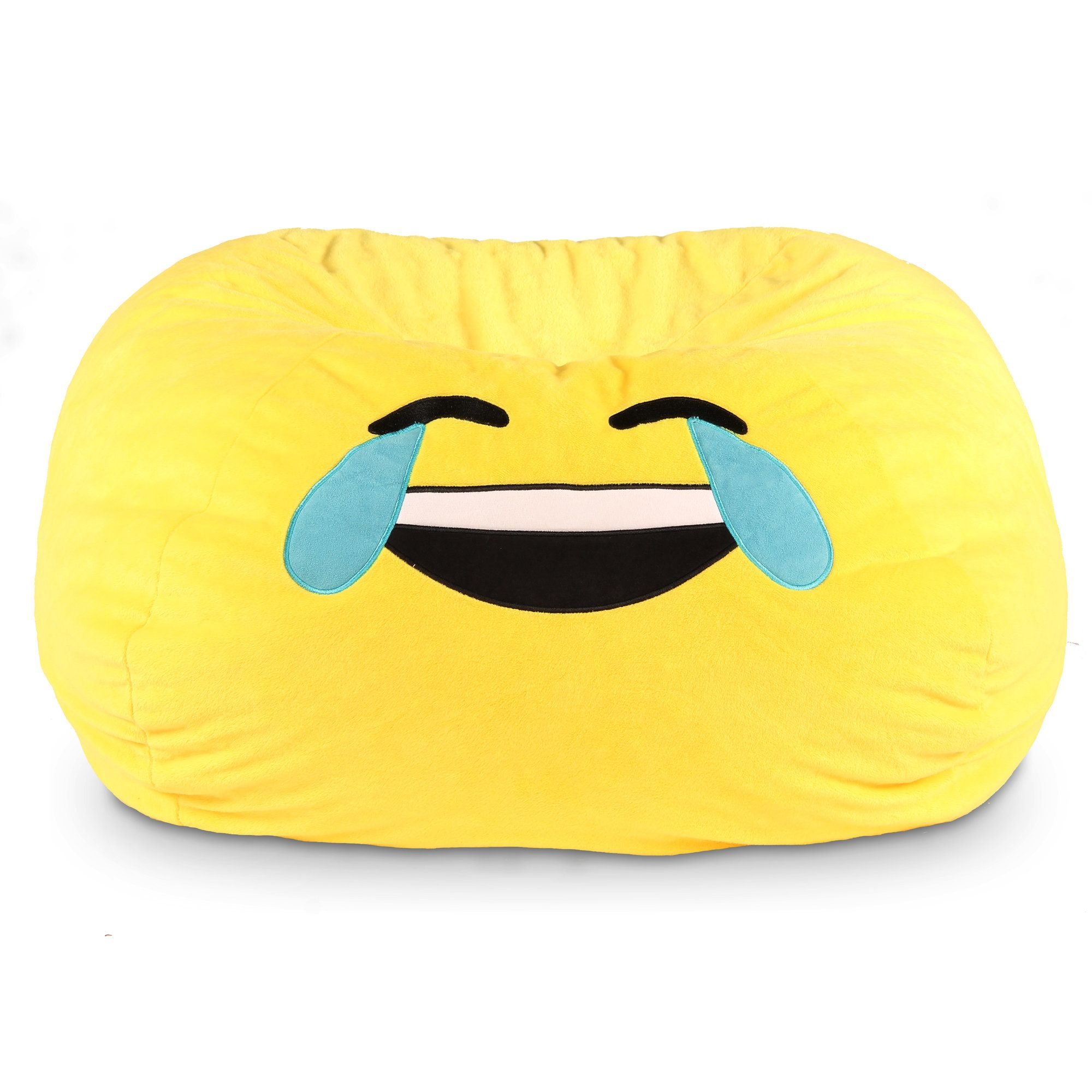 GoMoji Emoji Tears of Joy Bean Bag Chair Emoji bean bag