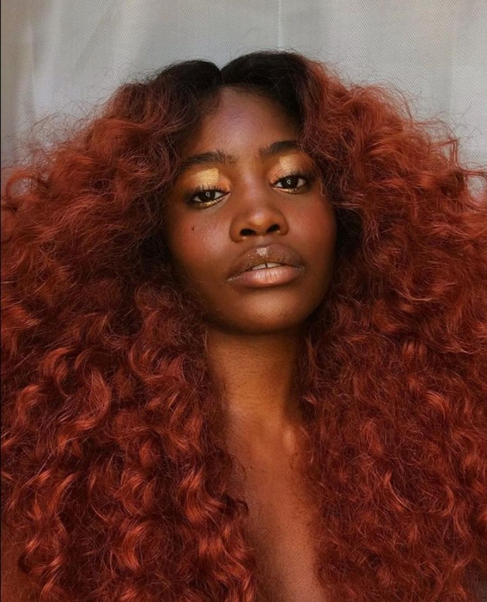 Copper Red Curls From Sensationnel S Armani Lace Wig Color T1b 350 Brown Hair Dark Skin Red Hair On Dark Skin Dyed Natural Hair