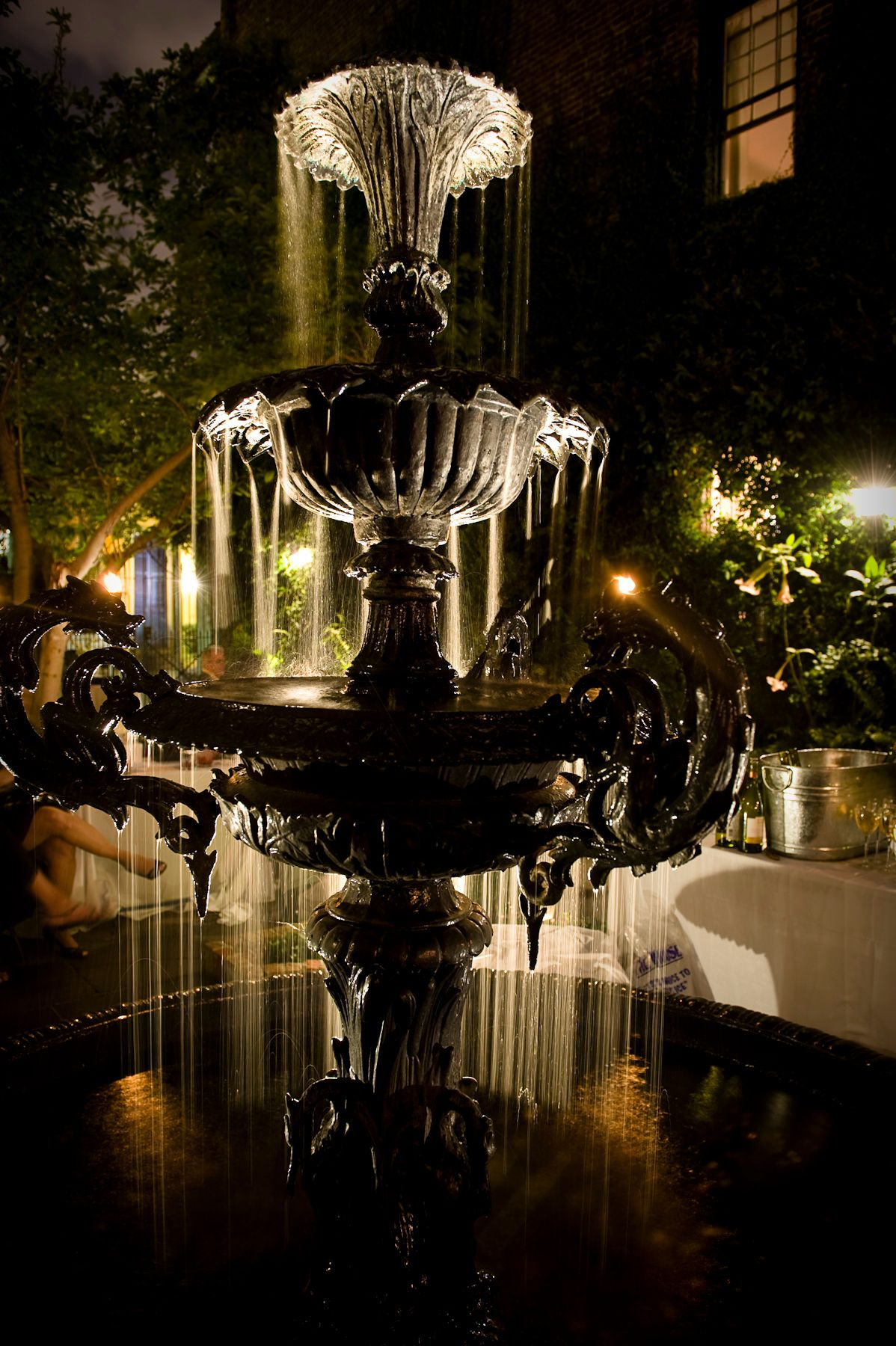Dining at Cafe Amelie Fountain, My secret garden, Fountains