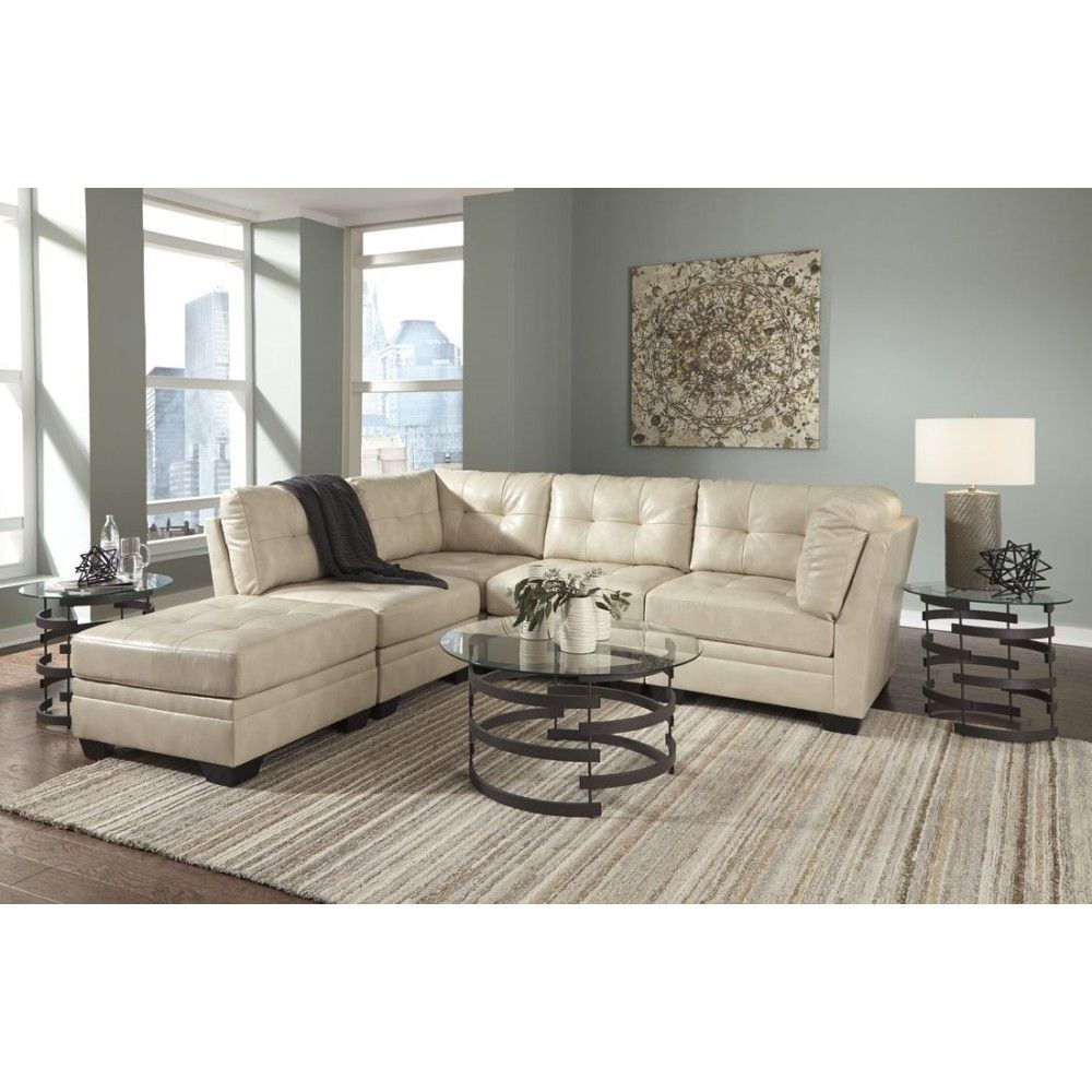 Taupe Living Room Furniture Ashley Furniture Khalil Durablend Sectional In Taupe Space