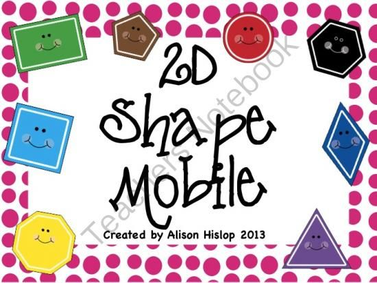 Modular Classroom Meaning ~ D shape mobile from teaching maths with meaning on