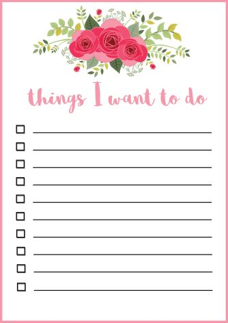 cute to do list template download free