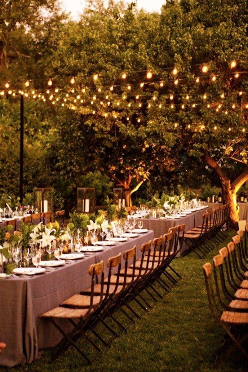 backyard wedding lighting backyard weddings ideal protein country