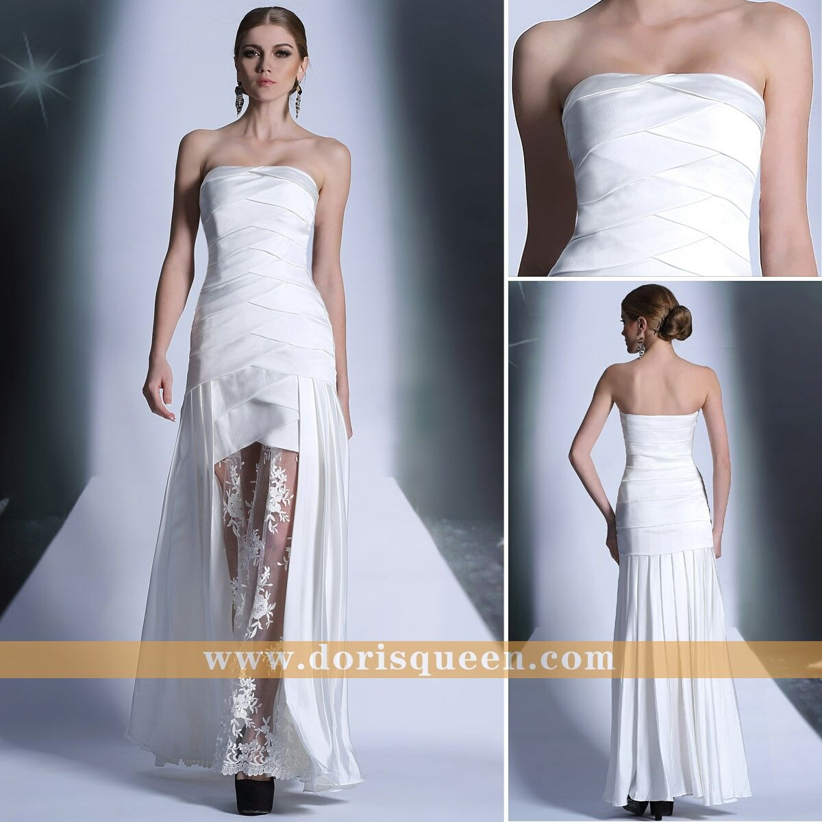 Zuhair murad wedding dresses see through strapless white