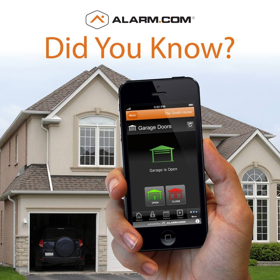Never Forget To Close The Garage Door Again Get A Reminder If You Leave Home With The Door Open And Close It From Anywhere Wi Garage Doors Garage House Doors