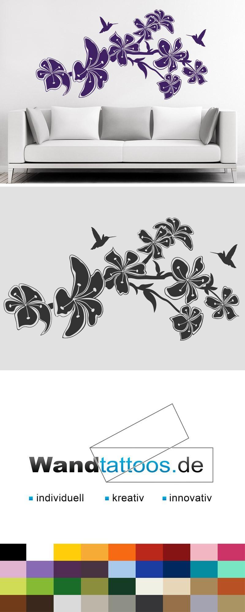 Wandtattoo Blühender Zweig Als Idee Zur Individuellen Wandgestaltung.  Einfach Lieblingsfarbe Und Größe Auswählen. Weitere