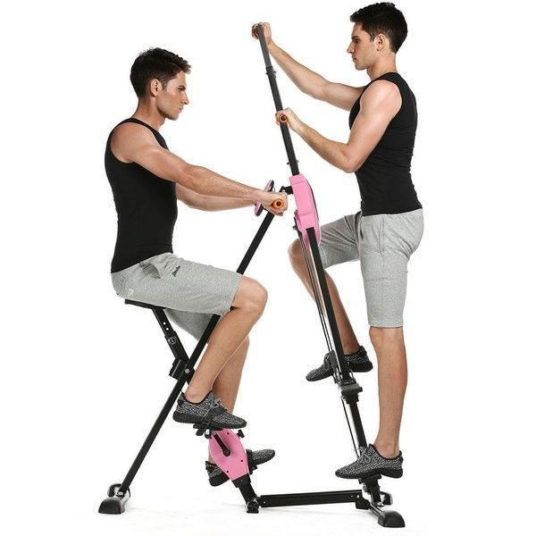 Vertical Climber Gym Exercise Fitness Machine Stepper Cardio Workout Training non-stick grips Legs A...
