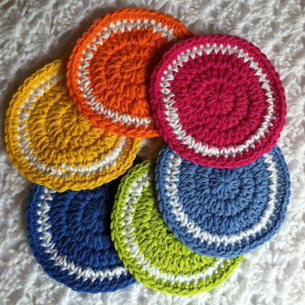 Rainbow Crochet Coasters Free Pattern From Lakeview Cottage Kids