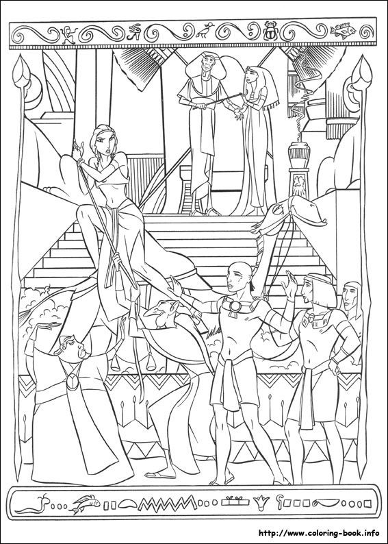 eygyption coloring pages | The Prince of Egypt - Coloring Page - SundaySchoolist