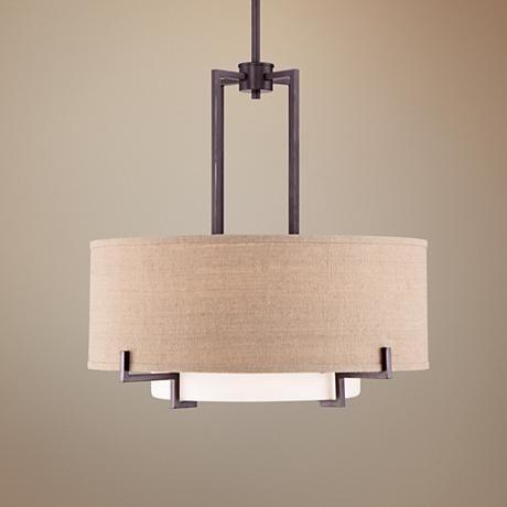 Possini Euro Concentric Shades 25 Wide Bronze Pendant Light