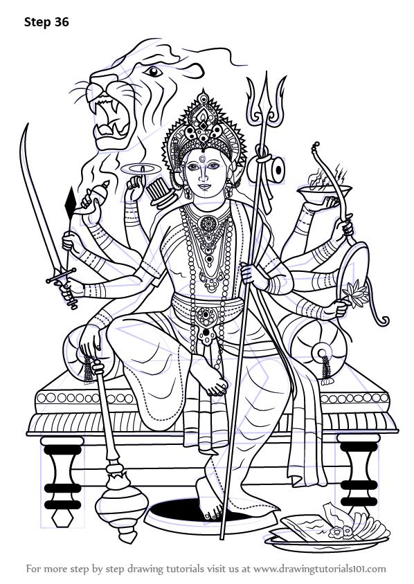 Pin By Devi On Design Durga Maa Durga Painting Durga