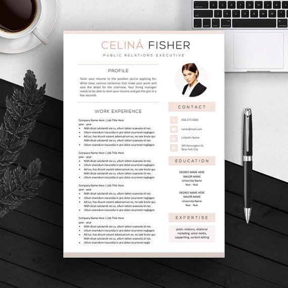 clean layout with a pink touch  impress your hiring