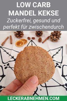 Low Carb Mandel Kekse - Zuckerfreie und kohlenhydratarme Plätzchen #sugarfree