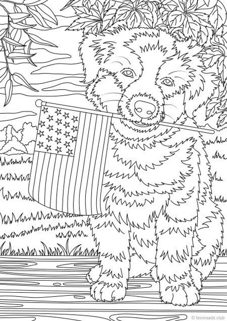 Dog Day - Printable Adult Coloring Page from Favoreads (Coloring book pages for adults and kids, Coloring sheets, Coloring Designs)