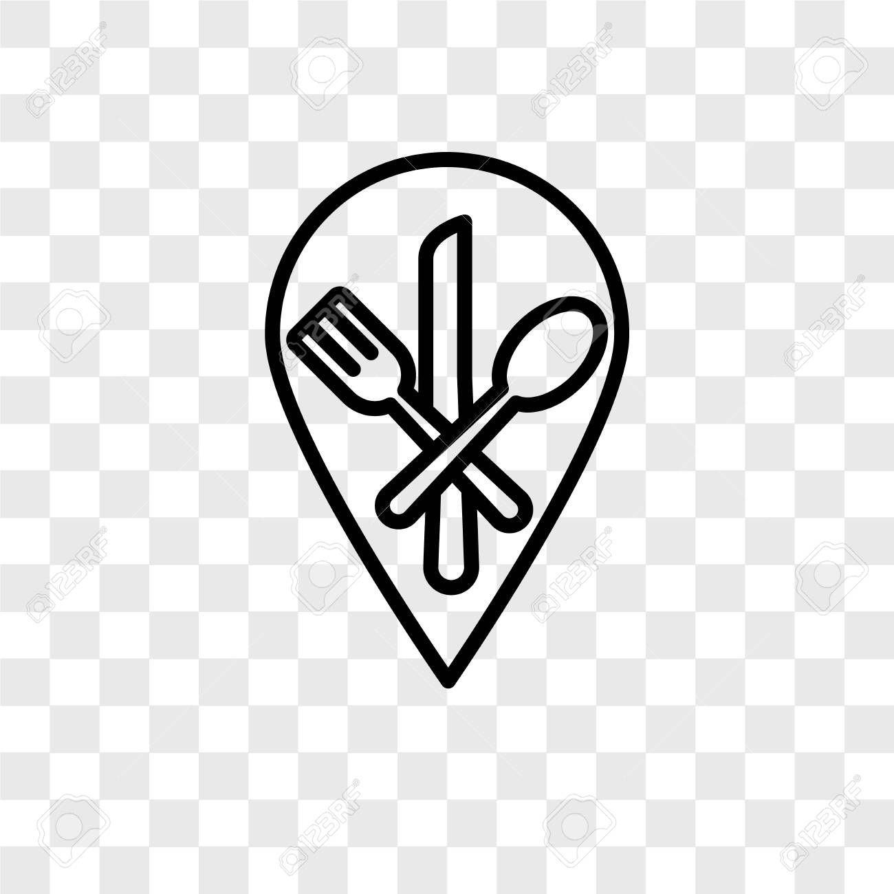 Restaurant Vector Icon Isolated On Transparent Background