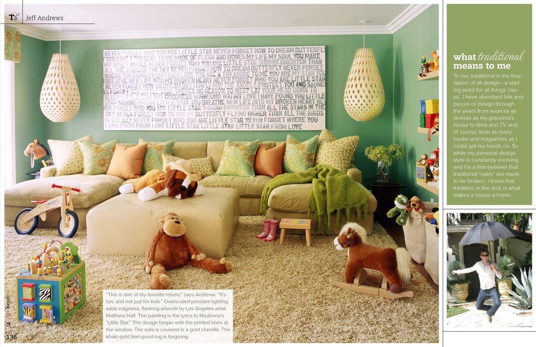 Wohnzimmer. Grün.