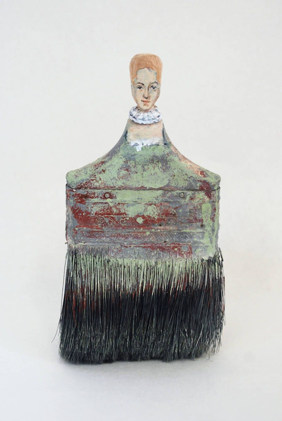 Old Paintbrushes Transformed into Famous Ladies Paint