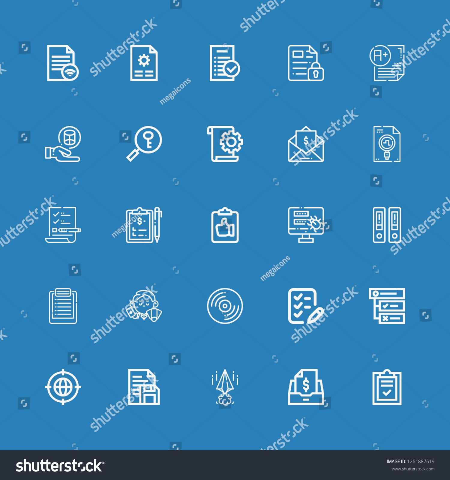Editable 25 form icons for web and mobile  Set of form included