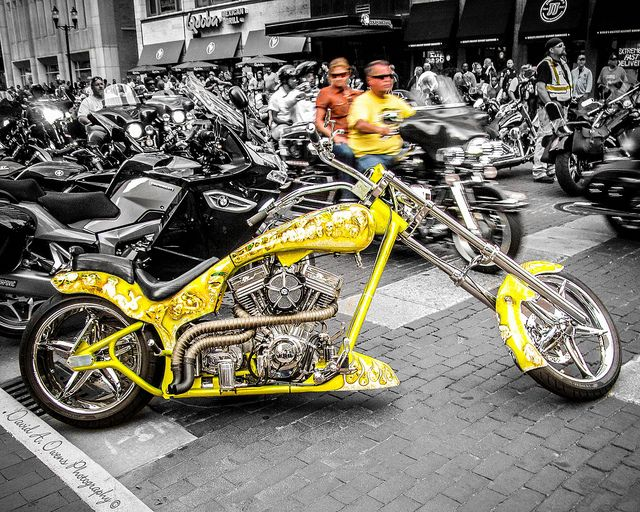 Yellow Skull Chopper | See the bikes --> www.TotallyRadChoppers.com | #choppers #motorcycles http://totallyradchoppers.com/yellow-skull-chopper/