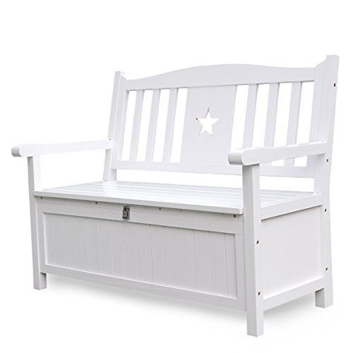Outdoor Storage Benches Songsen 4 Feet Wooden Storage Bench With Arm And Back Garden S Outdoor Storage Bench Storage Bench Seating Storage Bench With Cushion