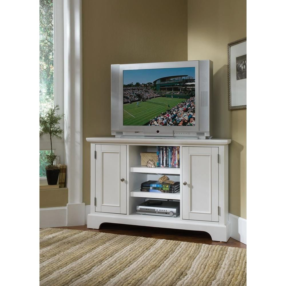 Home styles naples white entertainment center in products