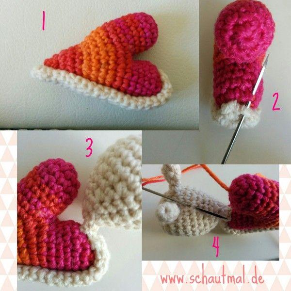 Herzschnecke_Anleitung_schautmal_de | Crochet | Pinterest | Cumple ...