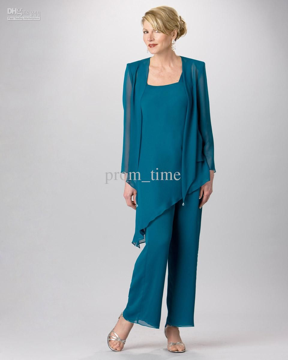 Teal Plus Size Mother of the Bride Pant Suits – Dresses for Woman