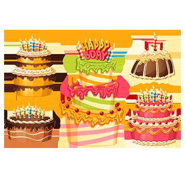 벡터 만화 생일 케이크 수집 초 , 만화, 달다, 좋아 PNG 및 벡터 에 대한 무료 다운로드