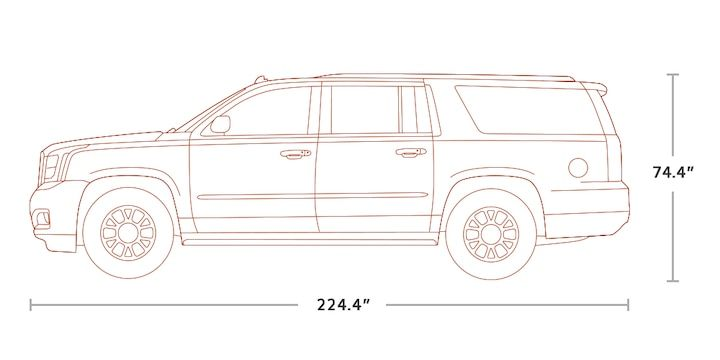 diagram image of the 2018 gmc yukon xl full-size suv