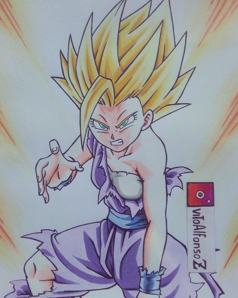 Female Gohan Videl X Male Saiyan Reader Dragon Ball Artwork Dragon Ball Art Anime Dragon Ball Super