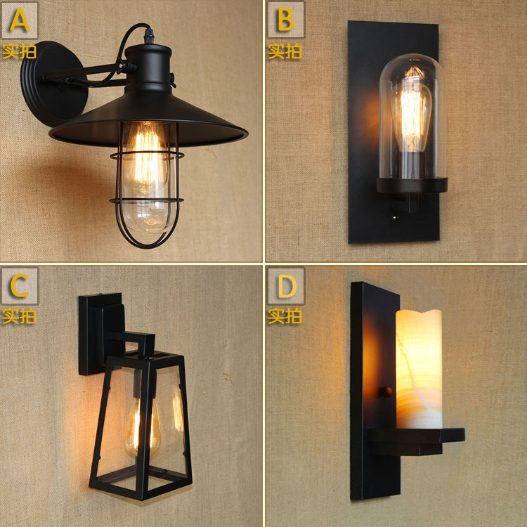 64.86$  Watch here - http://ali2hn.shopchina.info/go.php?t=32596154999 - American Country Iron Wall Lamp Industrial Vintage Loft Style Hallway Restaurant Creative Art Decoration Wall Lamp Free Shipping 64.86$ #buyininternet