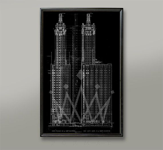 Chicago carbide carbon building blueprint chicago architecture chicago carbide carbon building blueprint chicago architecture blueprint old blueprintblueprint artblueprint postervintage chicago malvernweather Image collections