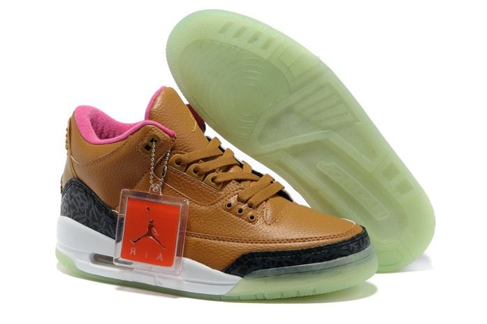 Nike Air Jordan MensNike Air Jordan Mens Air Jordan 3 Nike Air Jordan 3 III Cement Mens Skor Brun 01