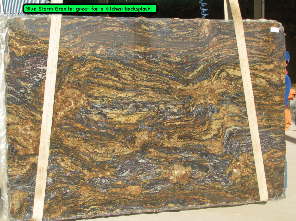 Beautiful Granite In Gold Black And Brown Blended Colors