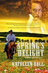 4 stars for Spring's Delight by Kathleen Ball Western Romance  http://purejonel.blogspot.ca/2014/11/SpringsDelight.html