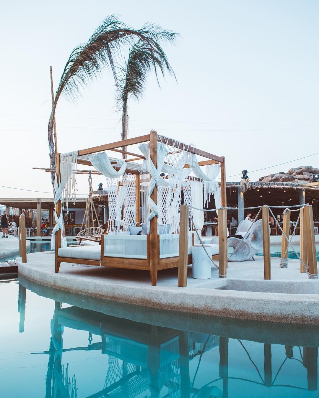 Meet Mix Or Retreat At Our Endless Salt Water Pool Organically Surrounded By Private Islands With Subterranean Suites Sant Saltwater Pool Pool Pool Cabana