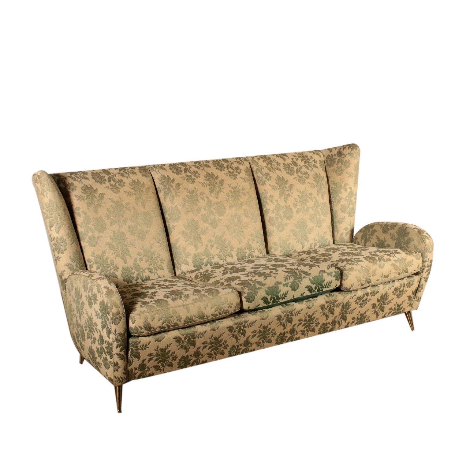 Canape En Style Paolo Buffa Ressorts Tissu Laiton Annees 50 Vintage Sofa Vintage Italy Modern Sofa Designs