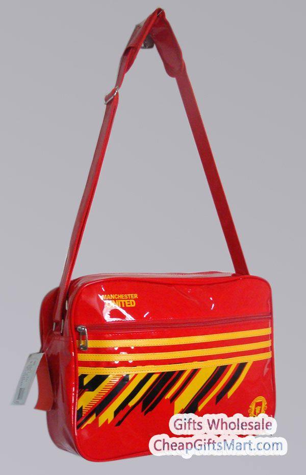 Classic Manchester United F C Light Leather Satchel Bag