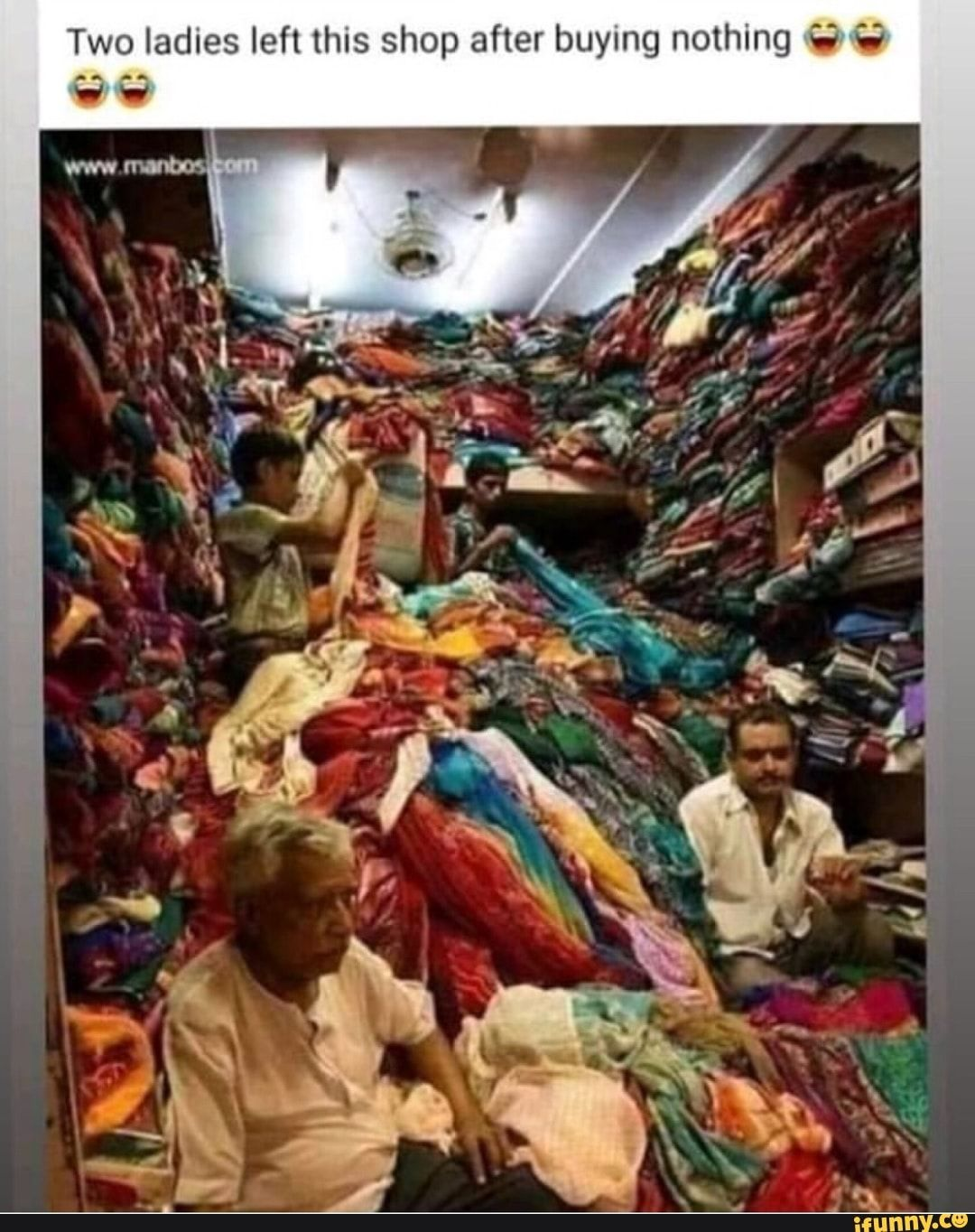 """Two ladies left this shop after buying nothing G """"v - )"""