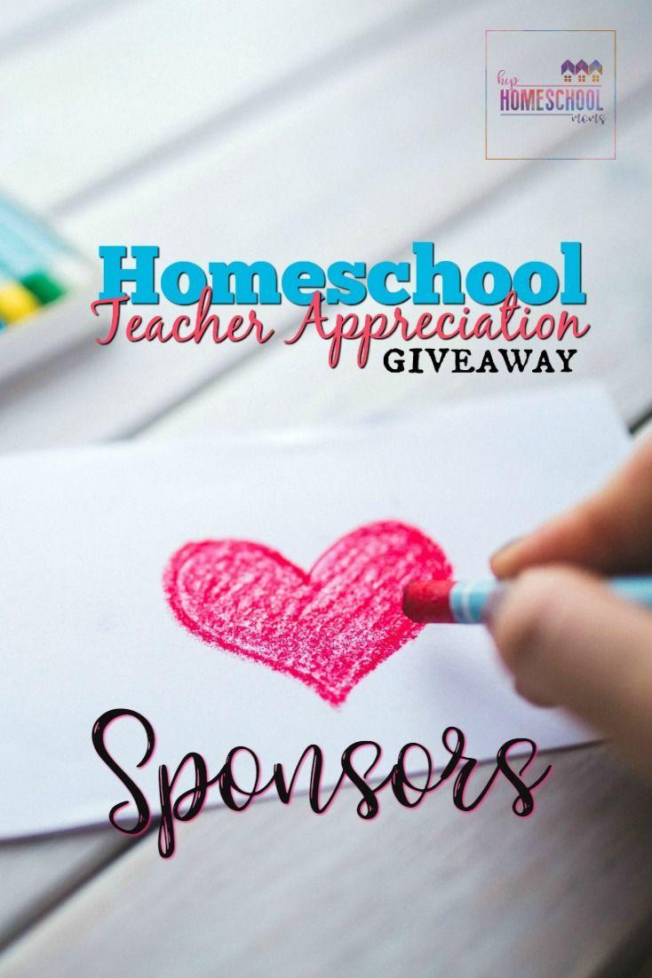 2017 Homeschool Teacher Appreciation Giveaway Sponsors via @hiphmschoolmoms