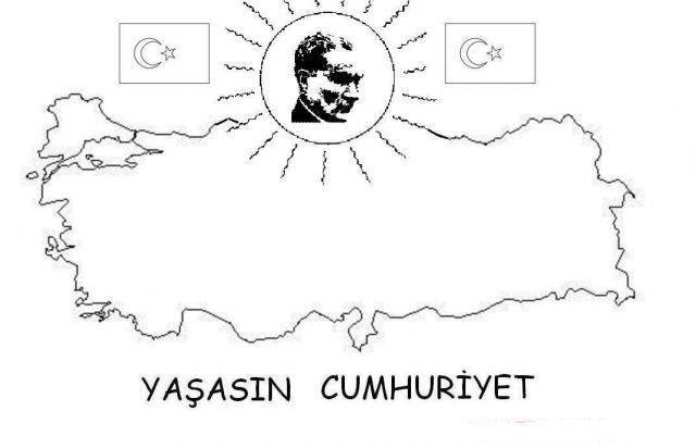 Cumhuriyetbayrami Boyamasayfalari Cumhuriyet Bayrak Ataturk Ataturkboyama Boyama Sayfalari Okul Okul Oncesi