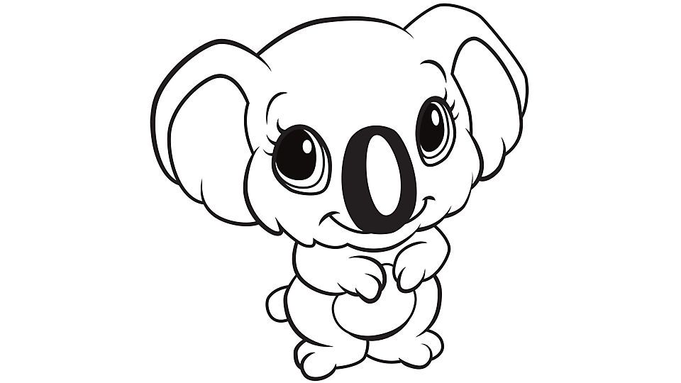 Learning Friends Koala Coloring Printable Animal Coloring Pages